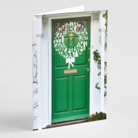 'Wreath on a Door' Christmas cards (Pack of 12)