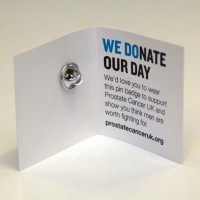 Donate Your Day pin badge