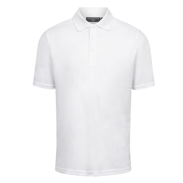 Men's Polo Golf Shirt (White)