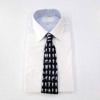 Man of Men tie in black