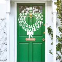 'Wreath on a Door' Christmas eCard