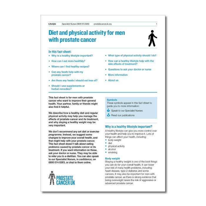 prostate cancer diet and exercise)