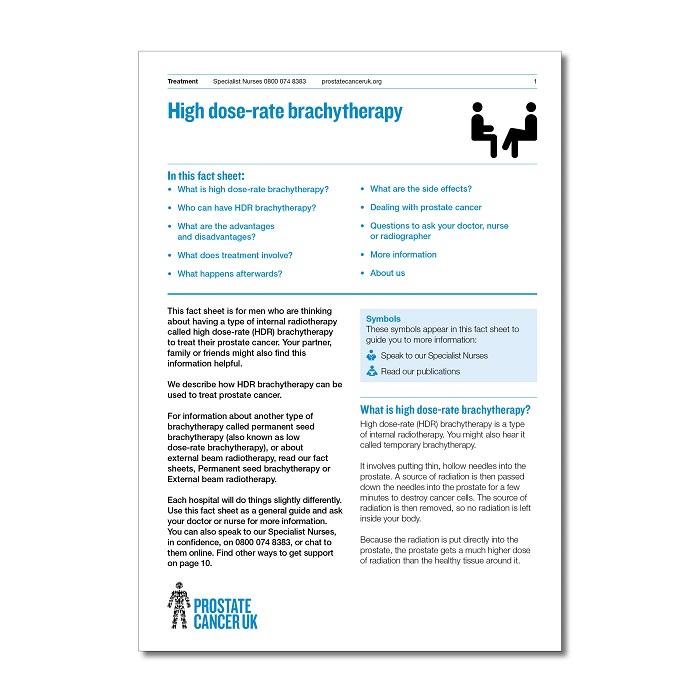 High dose-rate brachytherapy