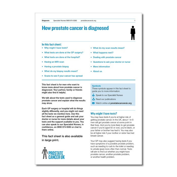 How prostate cancer is diagnosed
