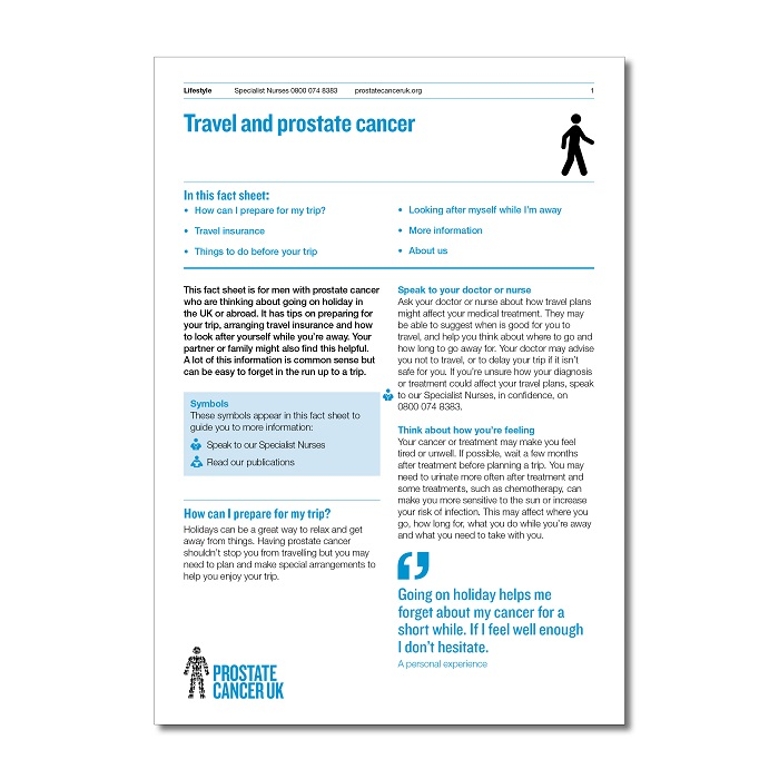 Travel and prostate cancer