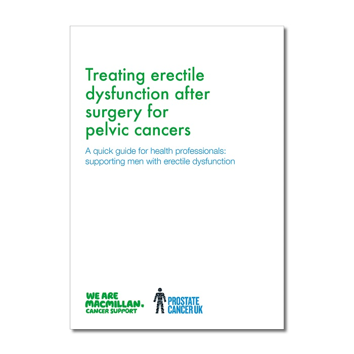 Treating erectile dysfunction after surgery for pelvic cancers
