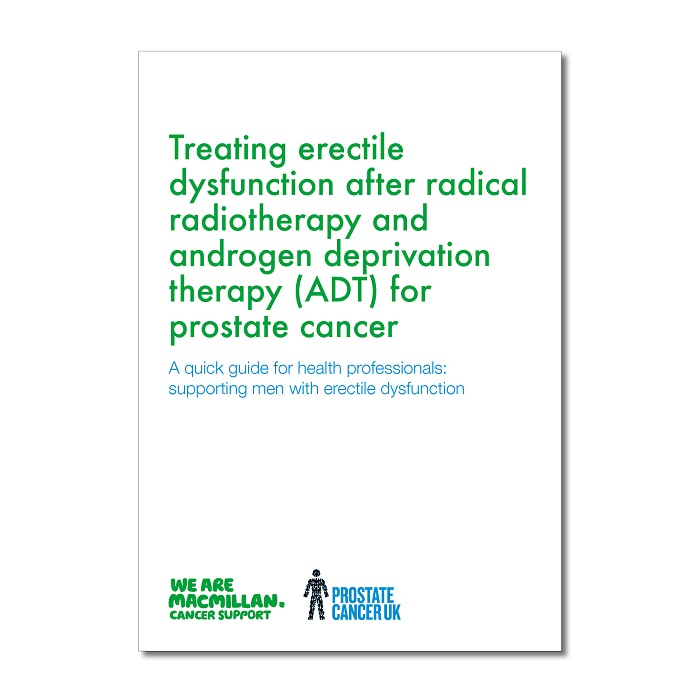 Treating erectile dysfunction after radical radiotherapy and androgen deprivation therapy (ADT) for prostate cancer